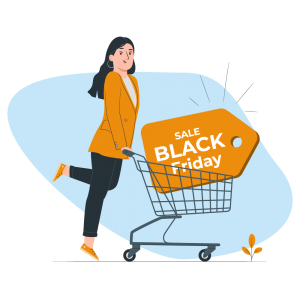Black Friday sale with trolley