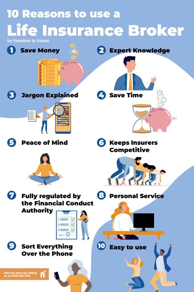 10 Reasons To Use A Life Insurance Broker Infographic