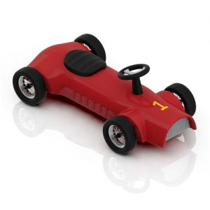 Red toy racing car