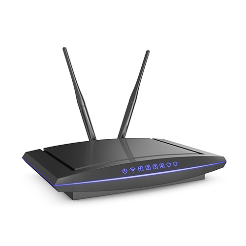 Black wifi router